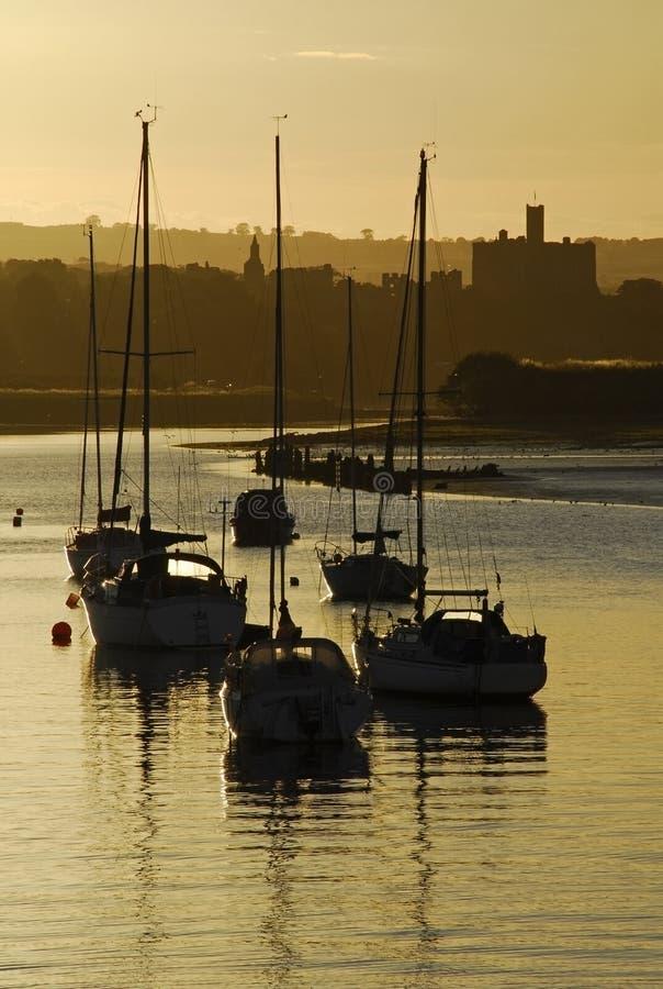 Port et Warkworth Ca d'amble photos libres de droits