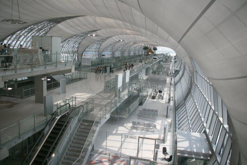 port för flygplatsbangkok avvikelse arkivfoto
