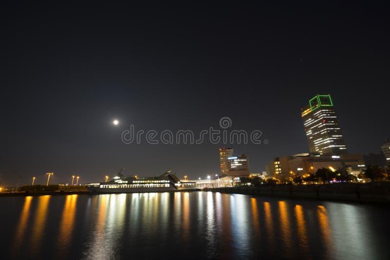 Port för nattplatsfärja 1 royaltyfri fotografi
