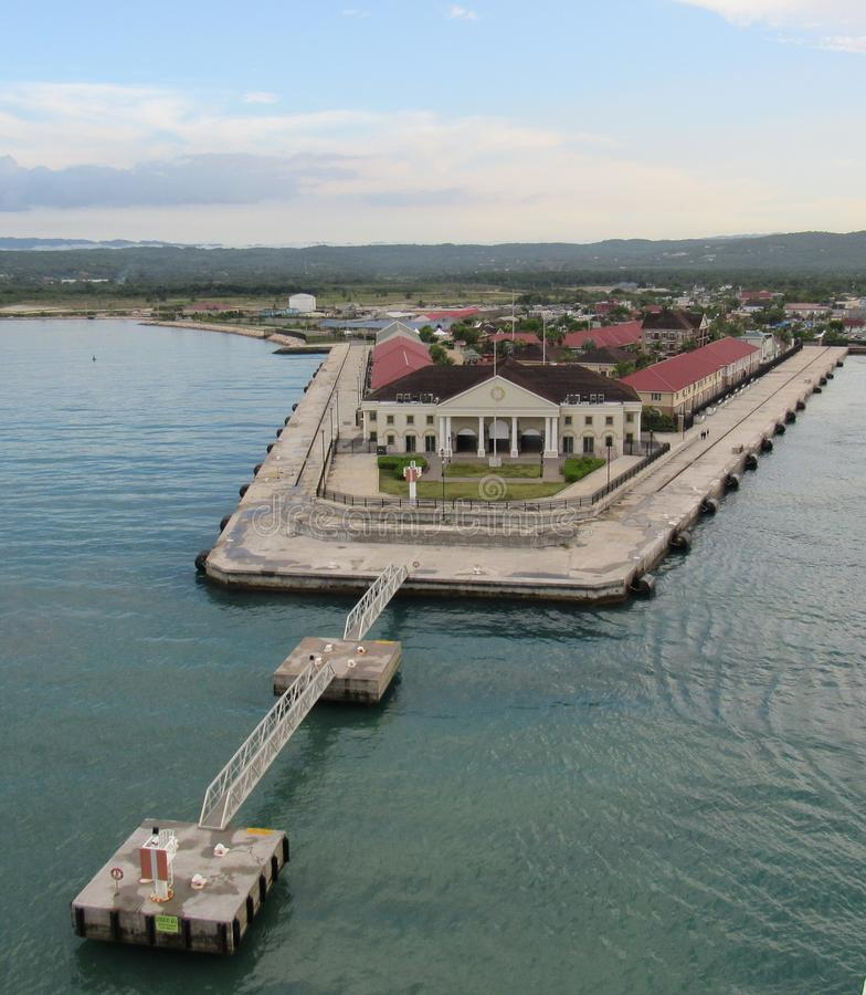 Port Falmouth Jamajka obrazy royalty free