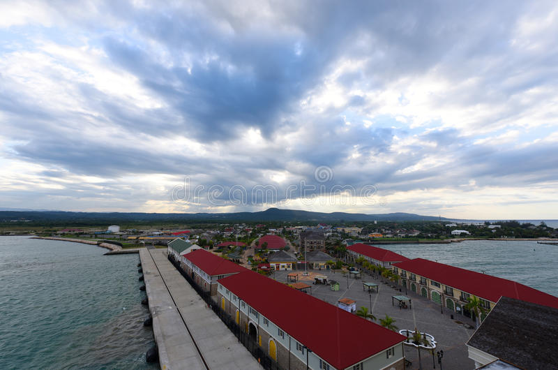 Port Falmouth, Jamajka zdjęcie royalty free