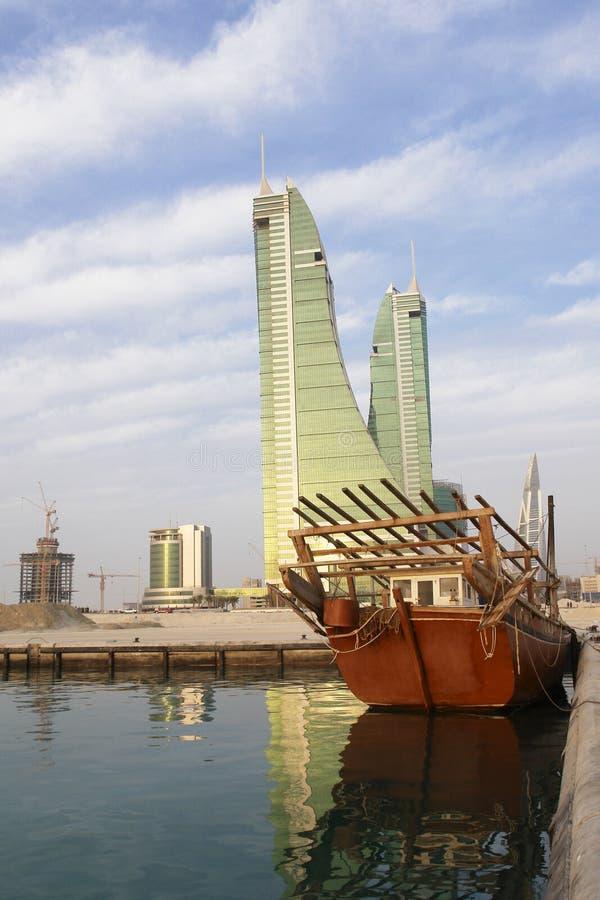 port financier du Bahrain images stock