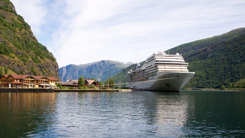 Port Flama, Norwegia fotografia royalty free