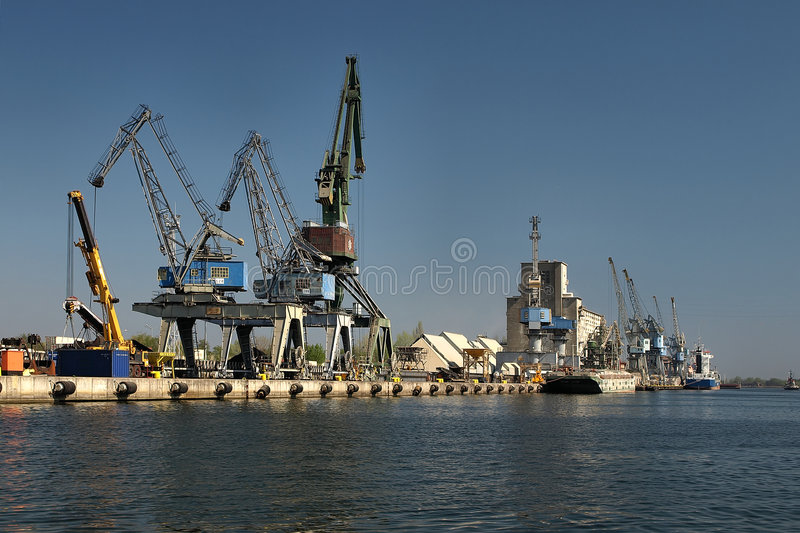 Port in Gdansk. royalty free stock photos