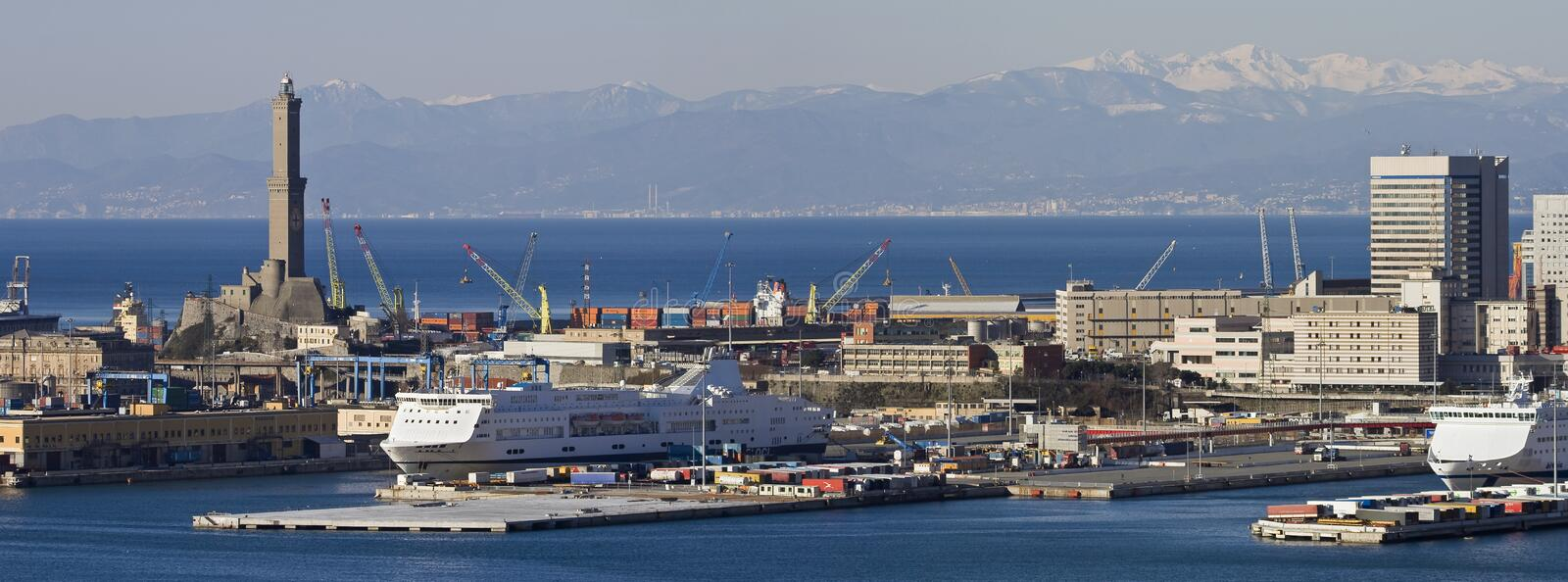 Download Port of Genoa stock image. Image of buildings, port, ferry - 8188425