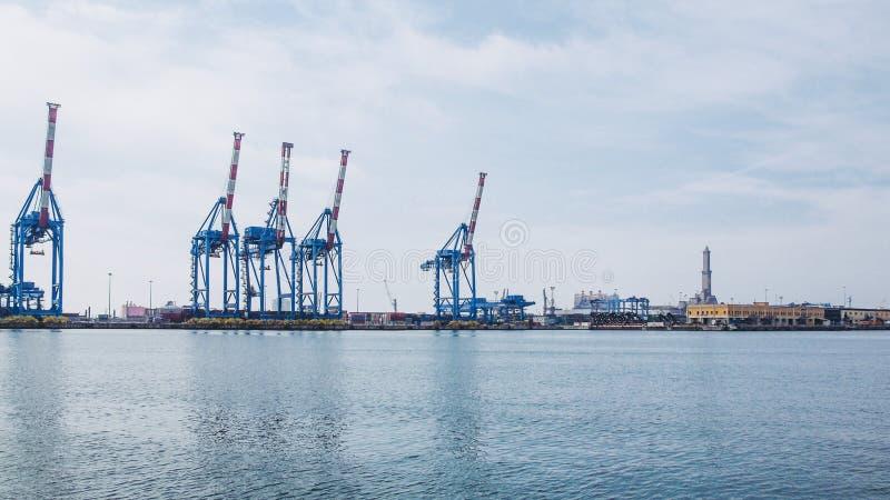 Port Genoa Italy image libre de droits