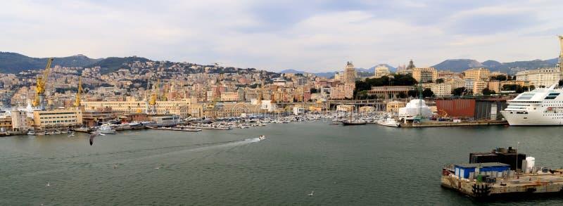 Port at Genoa Italy royalty free stock photos