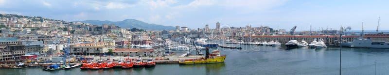 Port of Genoa, Italy stock image