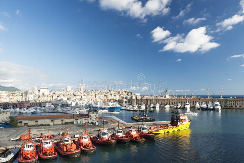 Port of Genova royalty free stock photography
