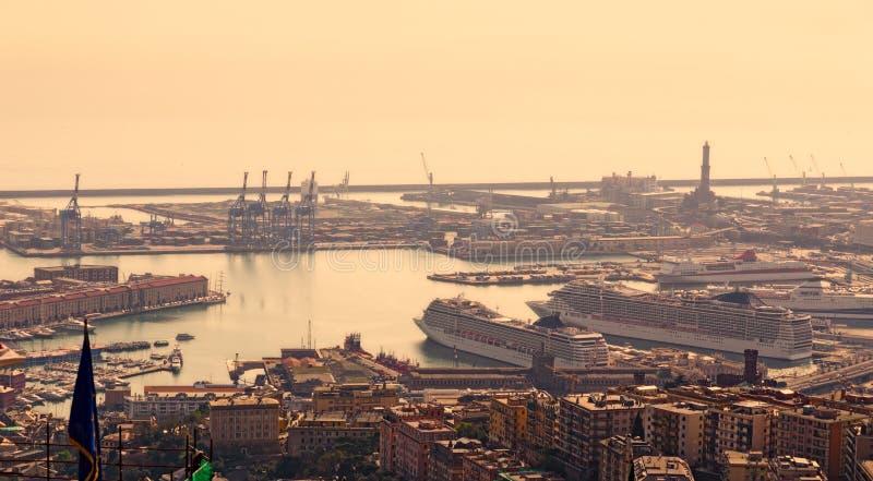 Port Genua, Włochy zdjęcie royalty free