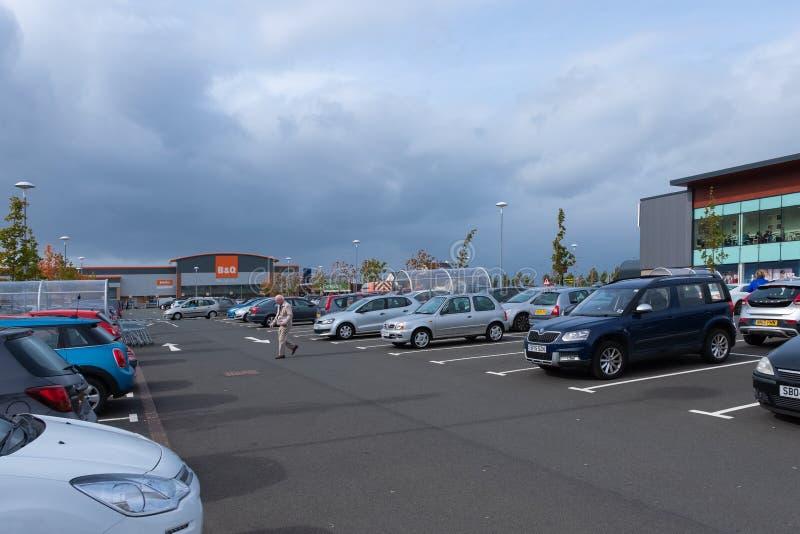 Port Glasgow Retail Park i Inverclyde Skottland arkivbild