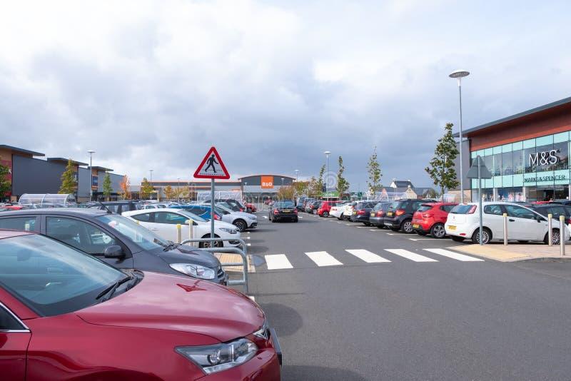 Port Glasgow Retail Park i Inverclyde Skottland arkivbilder