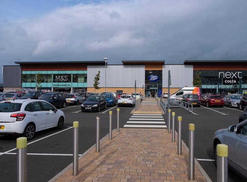 Port Glasgow Retail Park i Inverclyde Skottland fotografering för bildbyråer