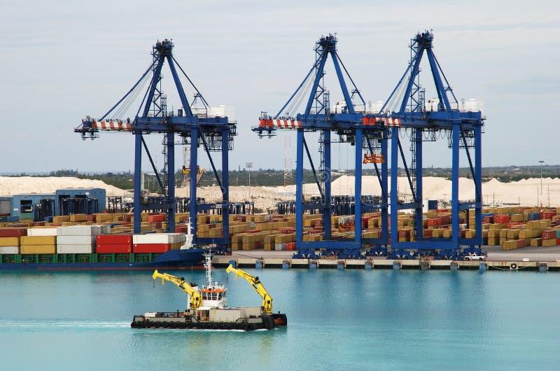 Port grand d'île de Bahama photo stock