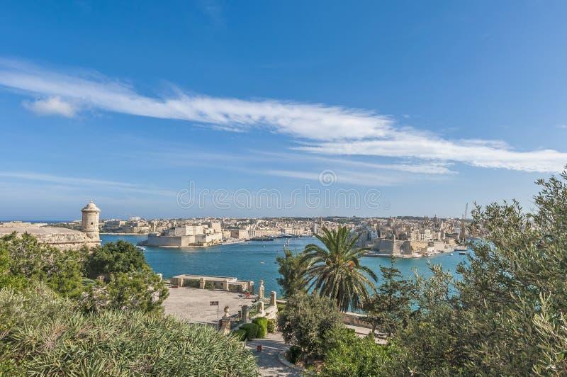Port grand de La Valette de La, Malte images libres de droits