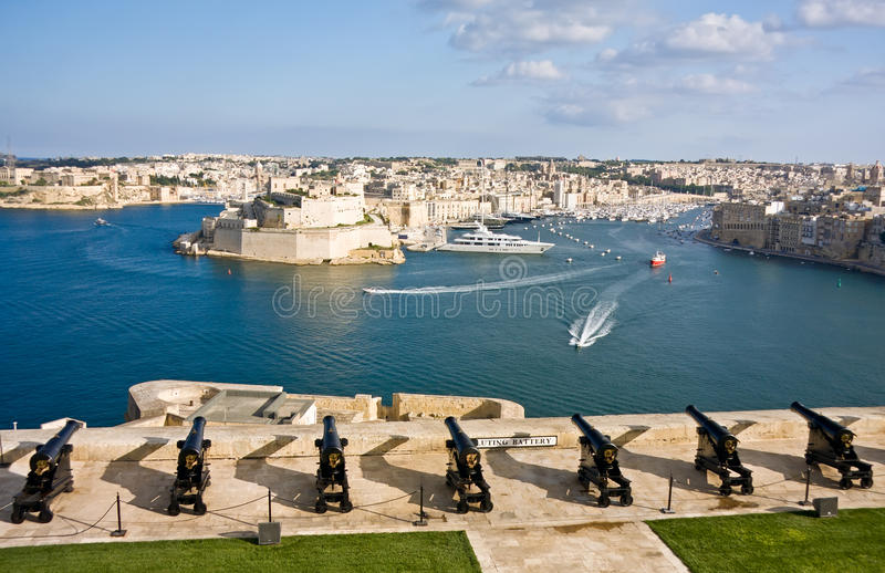 Port grand de valletta, capital de M image stock