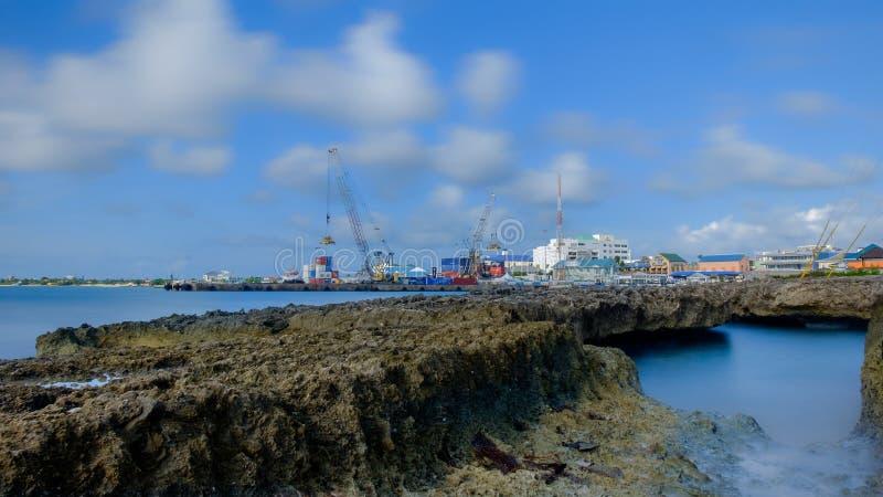 Port grand de ville de Caïman-George photographie stock