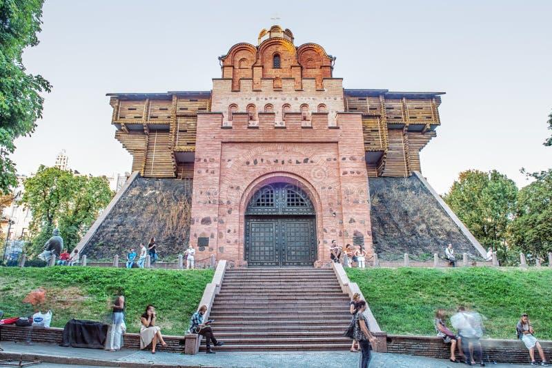 port guld- kiev ukraine arkivfoto