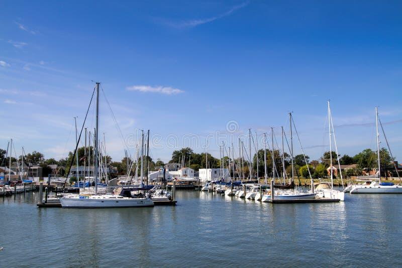 Port Hampton Virginia de petit bateau photographie stock