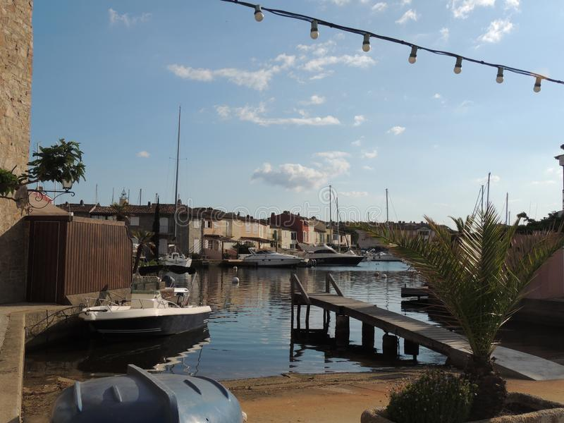Port and harbor in Port Grimaud, near Saint-Tropez royalty free stock image