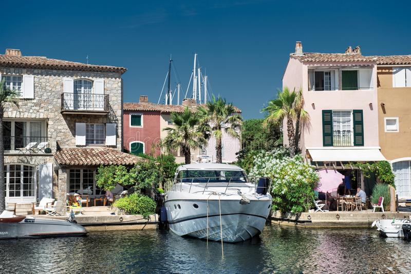 Port and harbor in Saint-Tropez stock photography