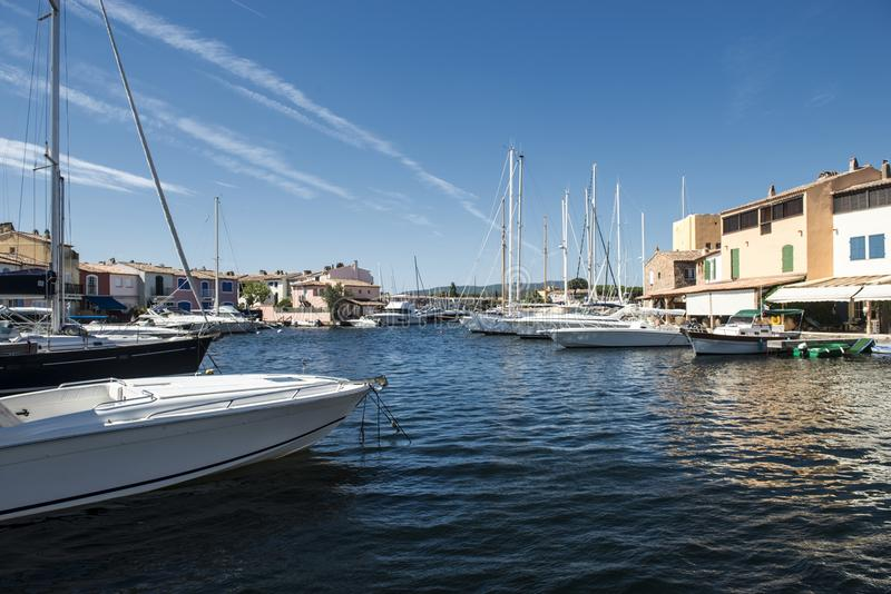 Port and harbor in Saint-Tropez royalty free stock image