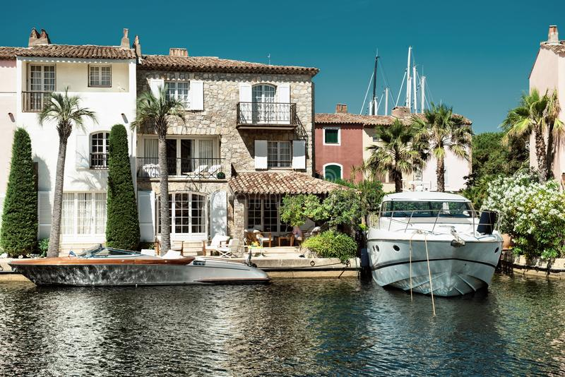 Port and harbor in Saint-Tropez royalty free stock photos