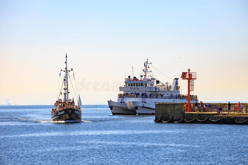 Port of Hel royalty free stock image