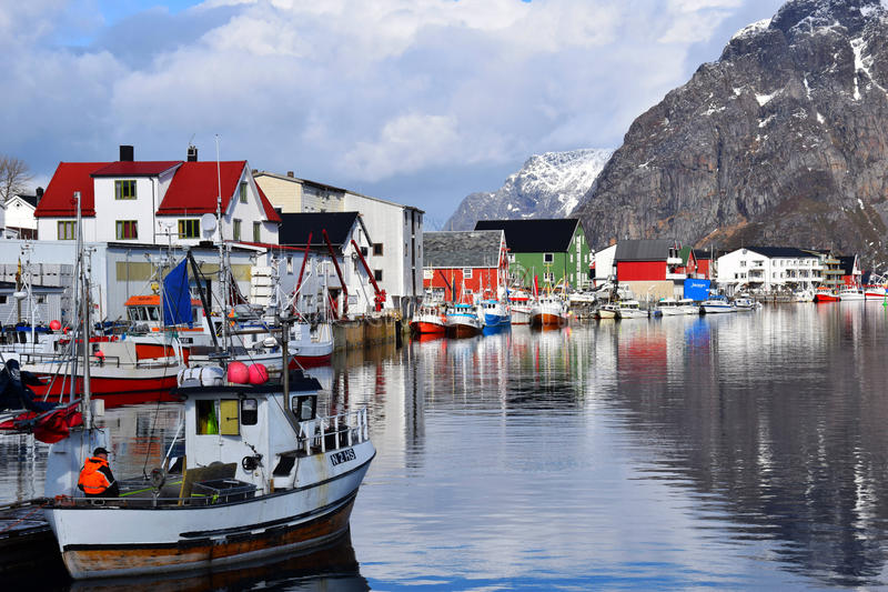 Port Henningsvaer stock photography