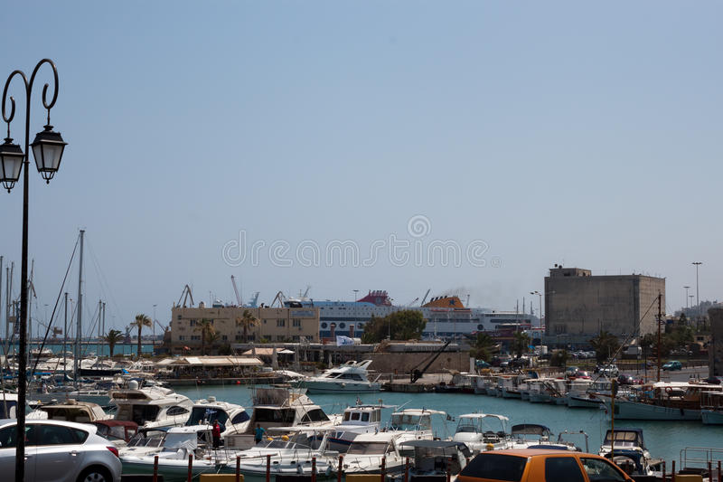 Port of Heraklion stock image