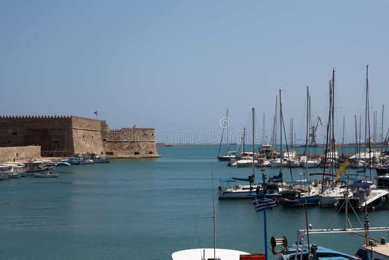 Port of Heraklion stock photography