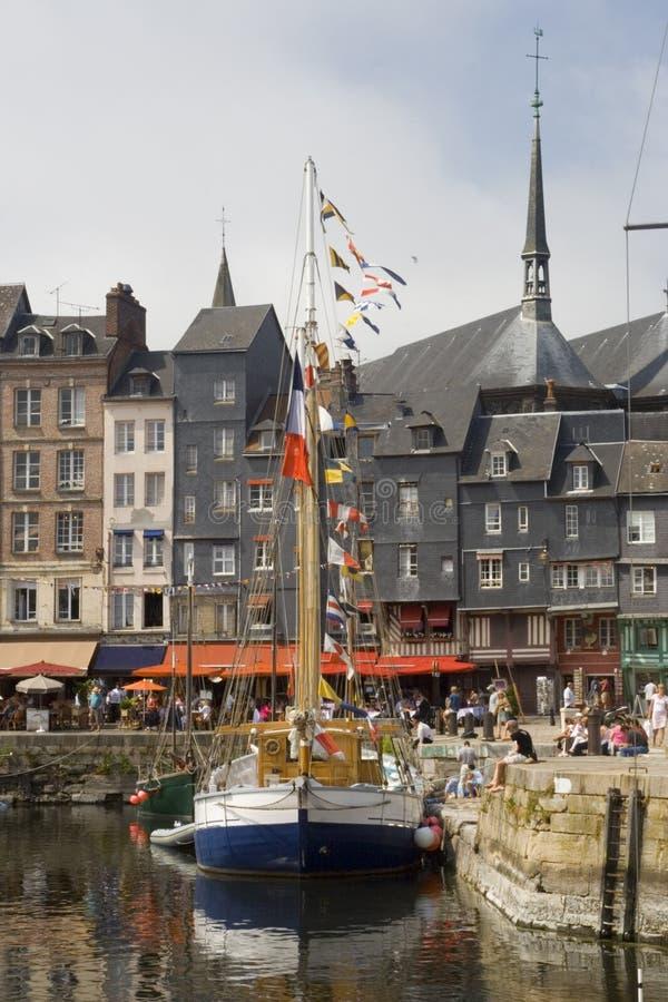 Port historique français photographie stock