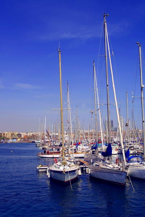 port hiszpański barcelona obrazy stock