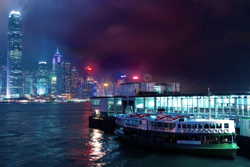 port Hong Kong Victoria photos libres de droits