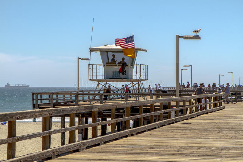 Port Hueneme Pier Life Guards royalty free stock image