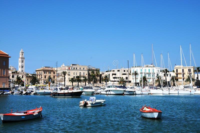 Port i Bari royaltyfri fotografi