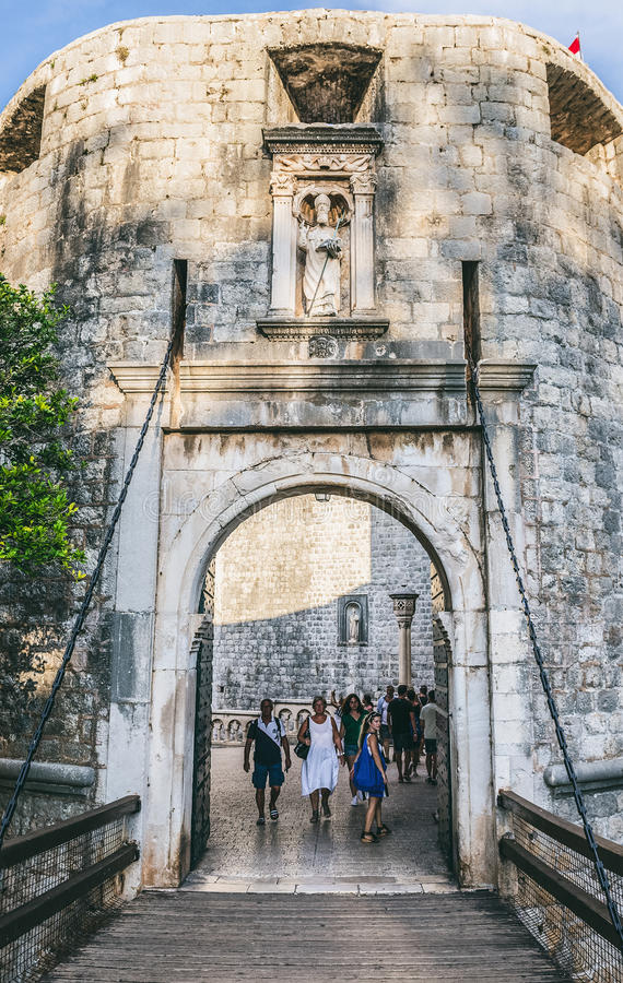 Port i Dubrovnik arkivbild