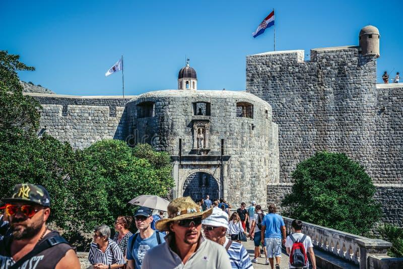 Port i Dubrovnik royaltyfri foto