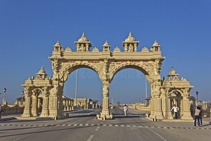Port i Dwarka arkivbilder