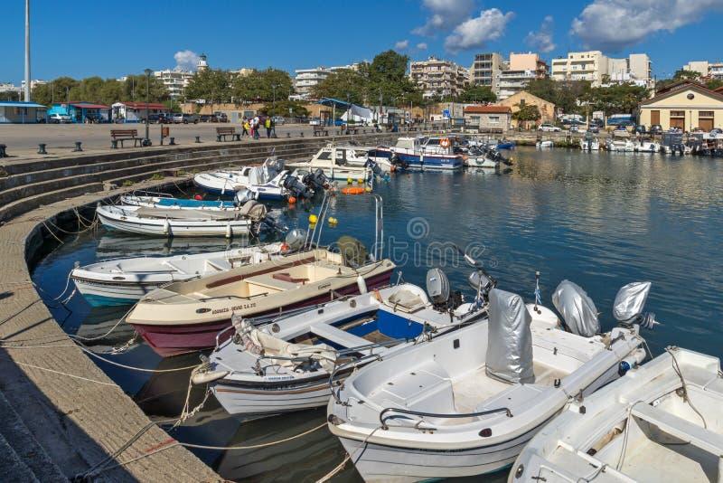 Port i panorama miasteczko Alexandroupoli, Wschodni Macedonia i Thrace, Grecja obraz stock