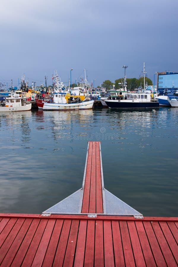 Port i Wladyslawowo royaltyfri fotografi