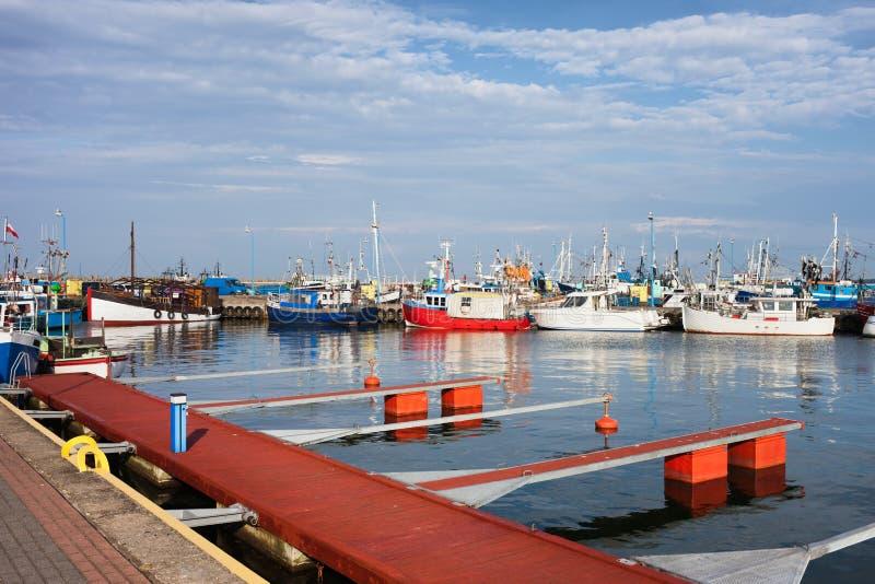 Port i Wladyslawowo arkivbild