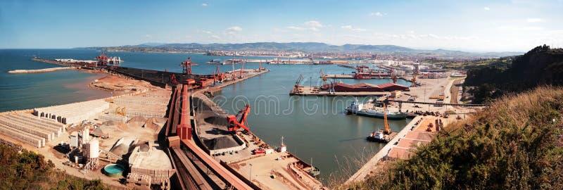 Port industriel photo stock