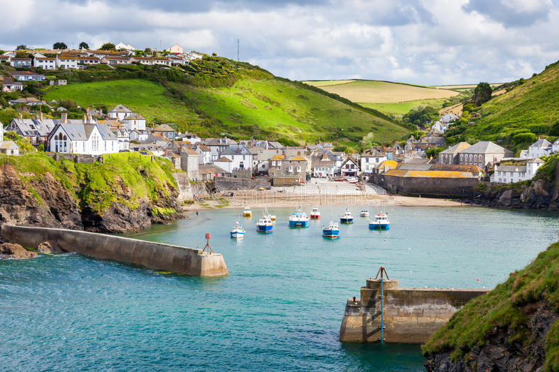 Port Isaac. Fishing village of Port Isaac, on the North Cornwall Coast, England UK royalty free stock images
