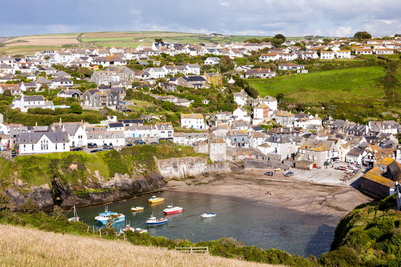 Port Isaac. Fishing village of Port Isaac, on the North Cornwall Coast, England UK stock image