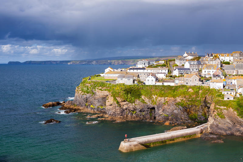 Port Isaac. Fishing village of Port Isaac, on the North Cornwall Coast, England UK stock photo