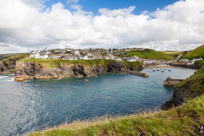 Port Isaac. Fishing village of Port Isaac, on the North Cornwall Coast, England UK royalty free stock image