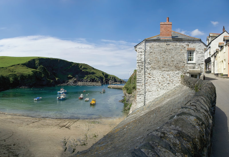 Port isaac. The harbour, the cornish coast at port isaac cornwall england uk stock images