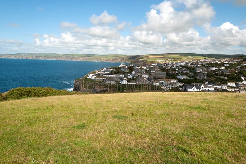 Download Port Isaac in Cornwall stock image. Image of hills, grass - 23046161