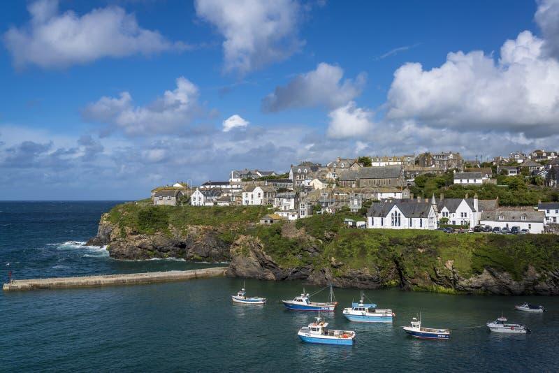 Port-Isaac, Cornwall, England, Großbritannien lizenzfreie stockbilder